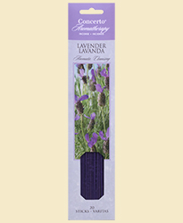 Concerto Aromatherapy - Incense Sticks Lavender