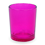 Gonesh Votives™ - Glass Votive Candle Holder Fuchsia