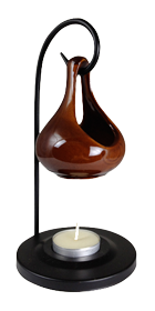 Warm Earth Glazed Suspended Warming Oil Pot