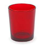 Gonesh Votives™ - Glass Votive Candle Holder Red