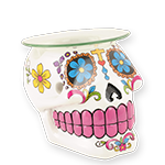 Day of the Dead - Oil Warmer- White