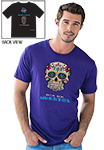 Day of the Dead - T-Shirt- Cobalt