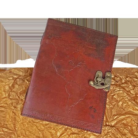 Leather journal world map gonesh incense leather journal world map gumiabroncs Choice Image