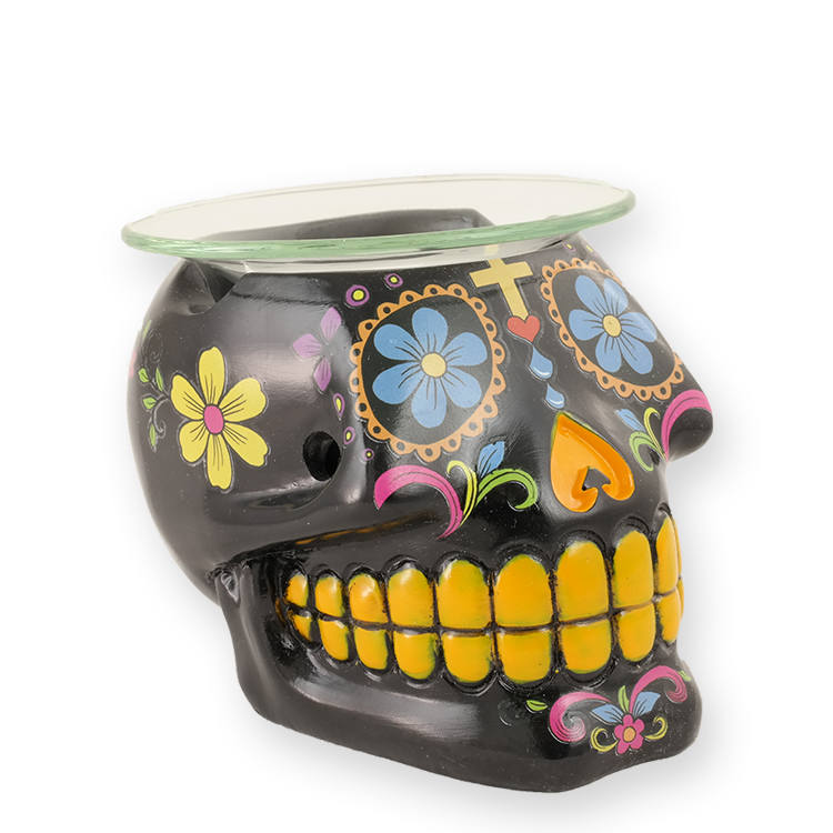 Day of the Dead - Oil Warmer- Black